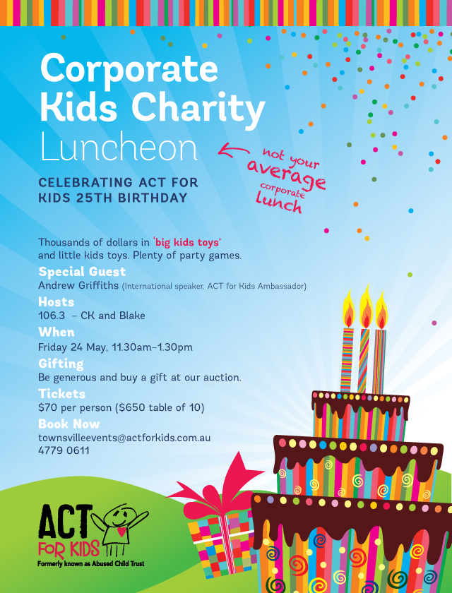 Act for Kids Luncheon Invitation